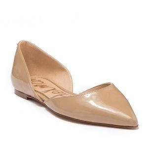 Sam Edelman Patent Leather Rodney Nude Cut Out